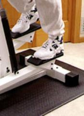 EquipSolid Mat - Solid PVC Mat for Upright Bikes, Spin Bikes